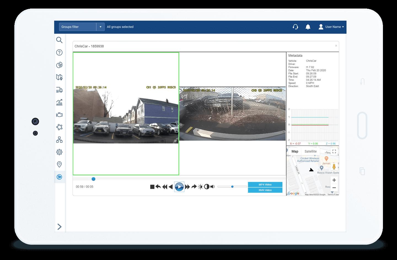 Rosco Dash Camera integration with myGeotab software